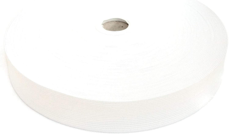 25 Meter Elastic Band 35 mm wide - White JAJASIO