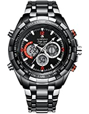 Globenfeld Super Sport 2.0 Mens Wrist Watch - Analogue/Digital Display with Quartz, Chronograph - Stainless Steel and Scratch Resistant Glass - Gents Limited Edition - 5 Yr Warranty, 60 Days Risk Free