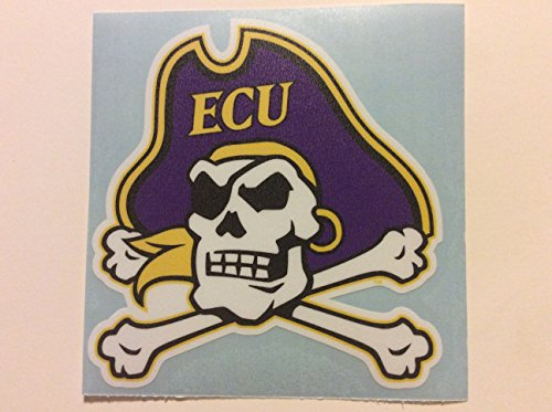 ECU, East Carolina Pirate, Premium Vinyl Sticker 4
