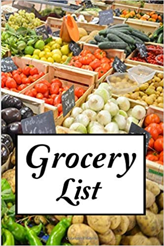grocery list grocery shopping planner with categories for produce