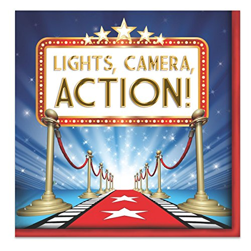 Red Carpet Themed Costume Ideas (Creative Converting 16 Count Hollywood Lights Lunch Napkins, Red/Blue/White)