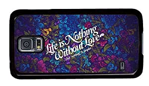 Hipster Samsung Galaxy S5 Case stylish cover nothing without love PC Black for Samsung S5