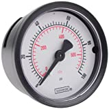 NOSHOK 100 Series ABS Dual Scale Dial Indicating Pressure Gauge with Back Mount, 2