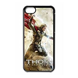 Thor The Dark World Image On The iPhone 5c Black Cell Phone Case AMW896253