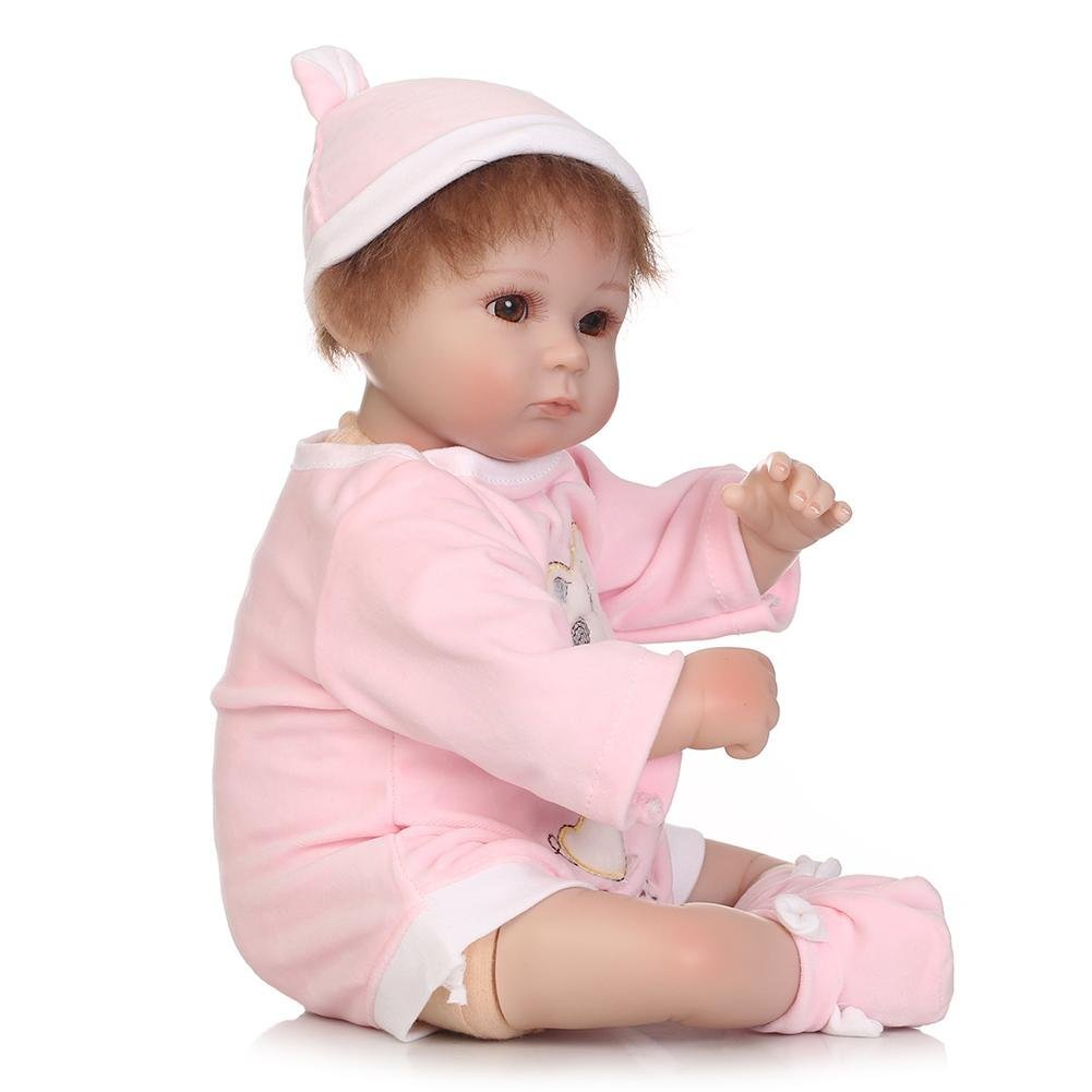 chinatera Little Girls Toy NPK Lifelike Simulation Reborn Cute Doll Soft Silicone Artificial Kids Cloth Doll by chinatera (Image #5)