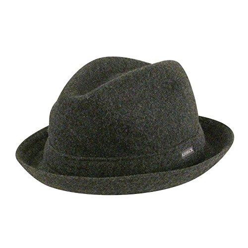 Flannel Dark Kangol - Kangol Men's Wool Player Cap, Dark Flannel XL