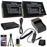 Two Canon EOS M 18 MP CMOS Mirrorless Digital SLR Camera LP-E12 Lithium Ion Replacement Battery + External Rapid Charger + Memory Card Wallet + Deluxe Starter Kit + Mini HDMI Cable Bundle DavisMAX EOS M Accessory Kit