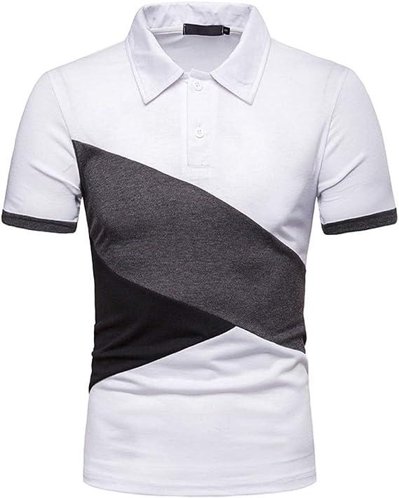Camisas de Polo Casual para Hombre Camisetas de Manga Corta ...
