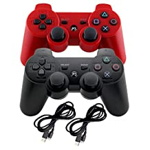 Wireless Gaming Controller- Bluetooth Gamepad Game Controller with Dual-Vibration Joysticks for PS3 by EVORETRO