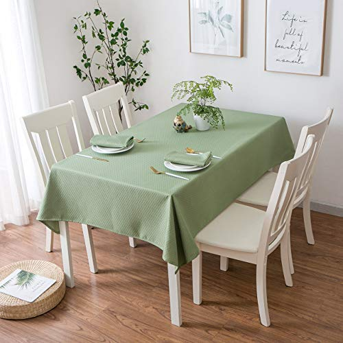 - Aoohome 52x52 Inch Square Table Cloth, Water Repellent Spill-Proof Polyester Chevron Tablecloth for Restaurant and Dinner, Heavy Weight, Machine Washable, Green