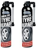 2 X QUICK FIX CAR EMERGENCY FLAT TYRE INFLATE PUNCTURE REPAIR KIT