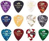 Dunlop PVP106 Medium Celluloid Guitar Picks Variety Pack (