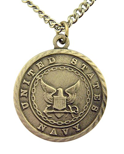 Pewter United States Navy Saint Michael Military Medal, 1 Inch