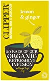 Clipper Organic Lemon & Ginger 20 Tea Bags (Pack of 6)