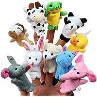 Imported And Funny 10pcs/set Cartoon Animal Finger Puppet Plush Toys Children Favor Dolls