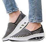 Clearance Sale Sneaker For Women,Farjing Women Fitness Shoes Casual Sport Shoes Lady's Mesh Shake Shoes Platform Sneaker (US:7,Black)