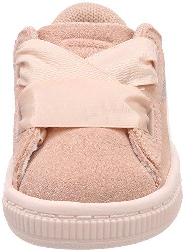 Puma Mädchen Suede Heart Jewel Inf Sneaker Beige (Peach Beige-Pearl)