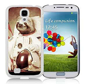 Hot Sale Samsung Galaxy S4 I9500 Screen Cover Case With Sloth Astronaut Art White Samsung S4 I9500 Case Unique And Beautiful Designed Phone Case