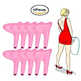 XIHAA Portable Women Funnel Urinal, Reusable Travel Camping Urine Device Mobile Toilet Soft Silicone Women Stand Up And Pee (10PCS),Pink