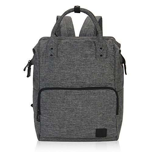 Veegul Stylish Doctor Style Multipurpose Travel Backpack Everyday Backpack for Men Women Single Pocket Grey Polyester