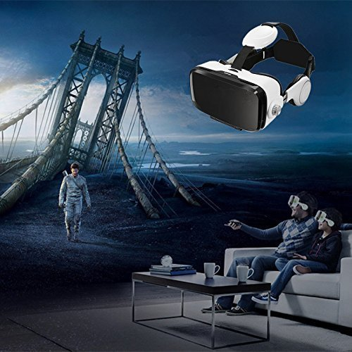 3D VR Glasses, YESSHOW VR Goggles Virtual Reality Headset Box for 3D Movies and VR Games with Remote Control Compatible with iPhone X /8/8 Plus 7/7 Plus/6S/ 6 Samsung S8/S7 and Other 4.0''-6.0'' phones by YESSHOW (Image #9)