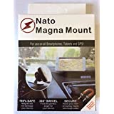 Nato Magna Mount [2 Pack] Magnetic Car Mount Holder for iPhone X 8 7s 6s Plus 5s Samsung Galaxy S8 Edge S7 S6 Note 5 Note 4, any cell phones or Tablets, Universal 360 degree, devices less than 2 Ib