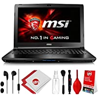 MSI GL62M 7RD-1407 Intel i5-7300HQ 2.5 GHz (3.1 GHz Boost) 8GB 256GB SSD NVIDIA GeForce GTX1050 15.6 LCD Win 10 Gaming Computer Notebook Laptop w/Cleaning Kit (GL62M1407)