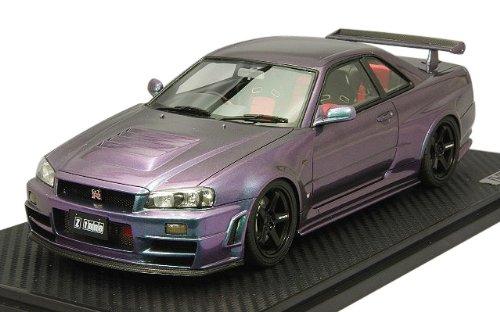 1/18 NISMO R34 GT-R Z-Tune Midnight Purple III IG0009