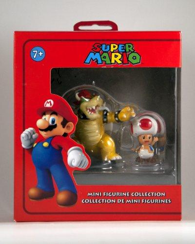 Super Mario Mini Figurine 2Pack Bowser Toad