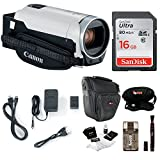Canon VIXIA HF R800 1080p HD Video Camcorder (White) with Essentials Bundle Including: