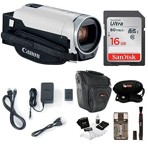 (Canon VIXIA HF R800: 1080p HD Video 57x Zoom Camcorder Bundle with 16GB SD Card Video Camera Case and Cleaning Kit - Compact and Affordable Camcorder Kit)