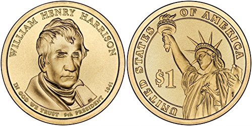 2009 P&D William Henry Harrison Presidential Dollar Set