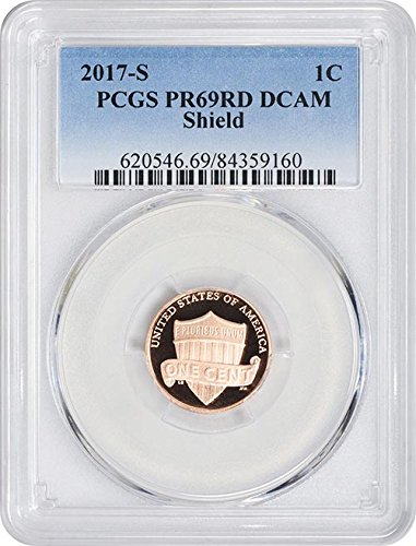 2017 S Proof Lincoln Shield New Blue Label Cent PR-69 RD DCAM PCGS (Lincoln Rd)