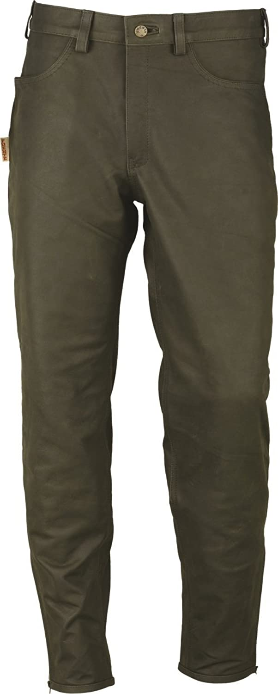 Lederprofi Men's Slim Trousers green Gr眉n 42