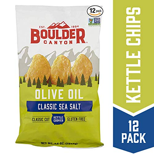 Kosher Potatoes - Boulder Canyon Kettle Cooked Potato Chips,6.5 Ounce Bag (Pack of 12)