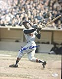 Hank Aaron Braves Autographed Signature 11x14 Original Action Photo Mint Autograph Hof JSA Coa