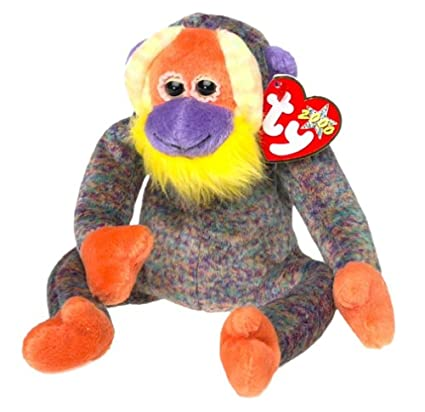 457870f4e40 TY Beanie Baby - BANANAS the Monkey  Toy
