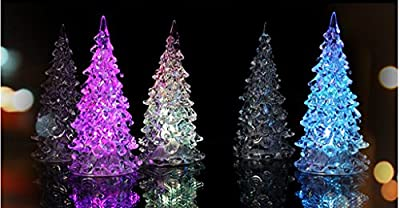 SDBING 3 Pcs Color Changing Colorful Christmas Tree LED Light Night Lamp Party Decoration New