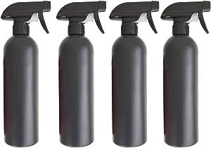 DOITOOL 4PCS 500ml Plastic Spray Bottles for Cleaning Solutions Empty Spray Bottle for Plants Garden Water Sprayer Leak-Proof Mist Empty Water Bottle (Black)