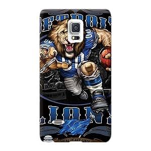 Samsung Galaxy Note 4 DOw27336iSvz Customized Trendy Detroit Lions Pattern Shock Absorption Hard Phone Cases -LeoSwiech