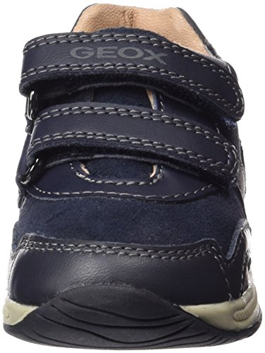 Geox B Rishon Boy B, Botines de Senderismo para Bebés Azul (Navy / Dark Grey C0718)