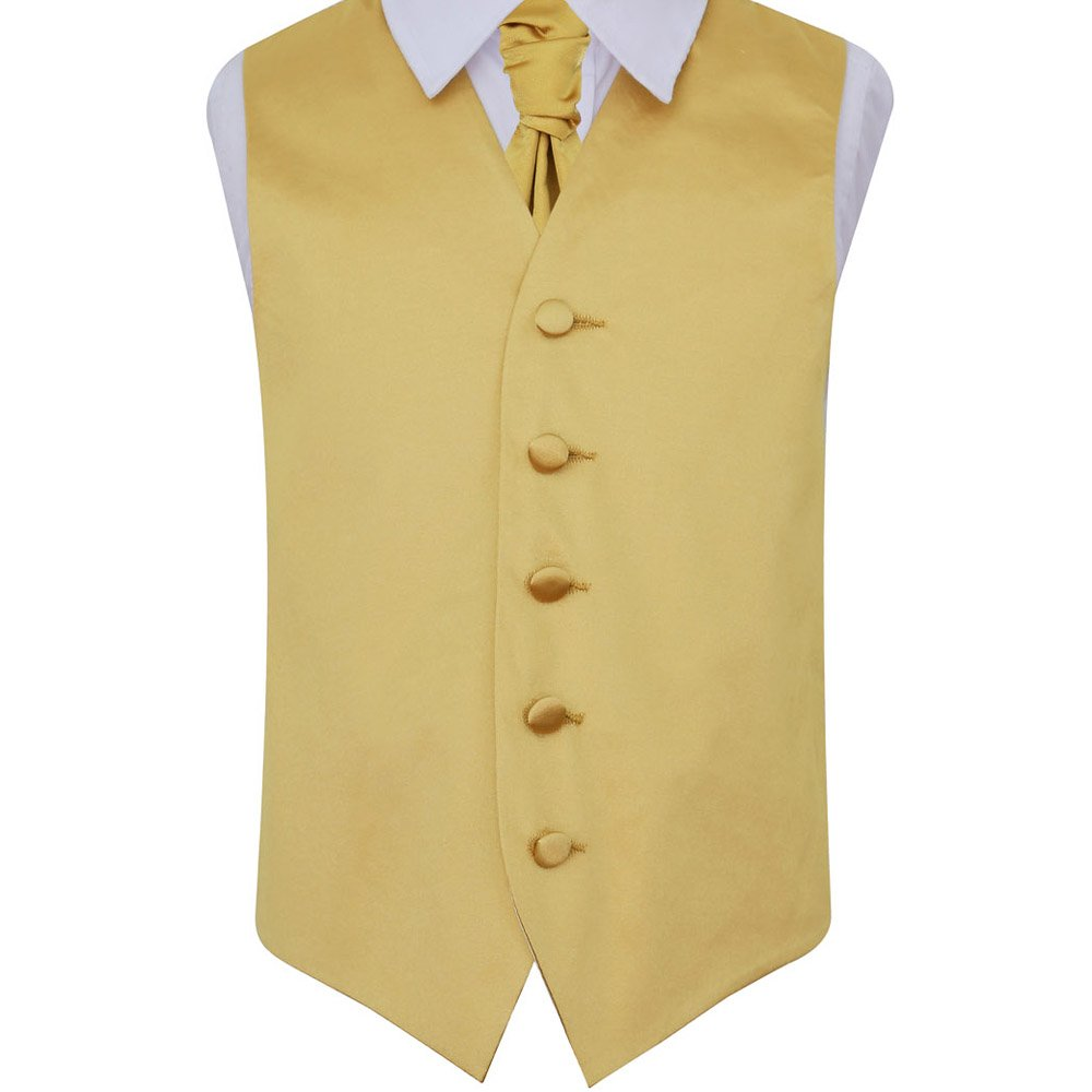 DQT Boys Plain Wedding Waistcoat and Cravat with Cravat Pin