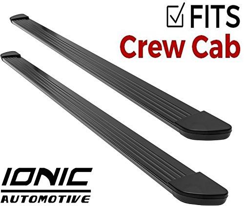 Ionic Gladiator Black Running Boards 2011-2018 Chevy Silverado GMC Sierra Crew Cab 2500/3500 Diesel Engine