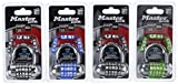 Master Lock 1534D Password Plus Combination Padlock, 4 Color May Vary, 4-Pack