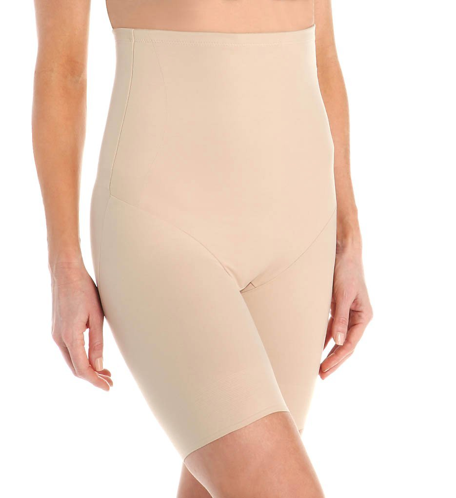 TC Fine Intimates Extra-Firm Control High-Waist Thigh Slimmer, M, Nude