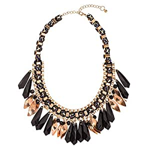 Just Showoff Women's Alloy Black Dangling Necklace