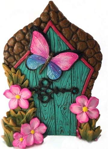 GlitZGlam Puerta de Hadas con Mariposa en Miniatura para Hadas de jardín y gnomos en Miniatura. Un Accesorio para gnomos de césped y Hadas de jardín: Amazon.es: Jardín