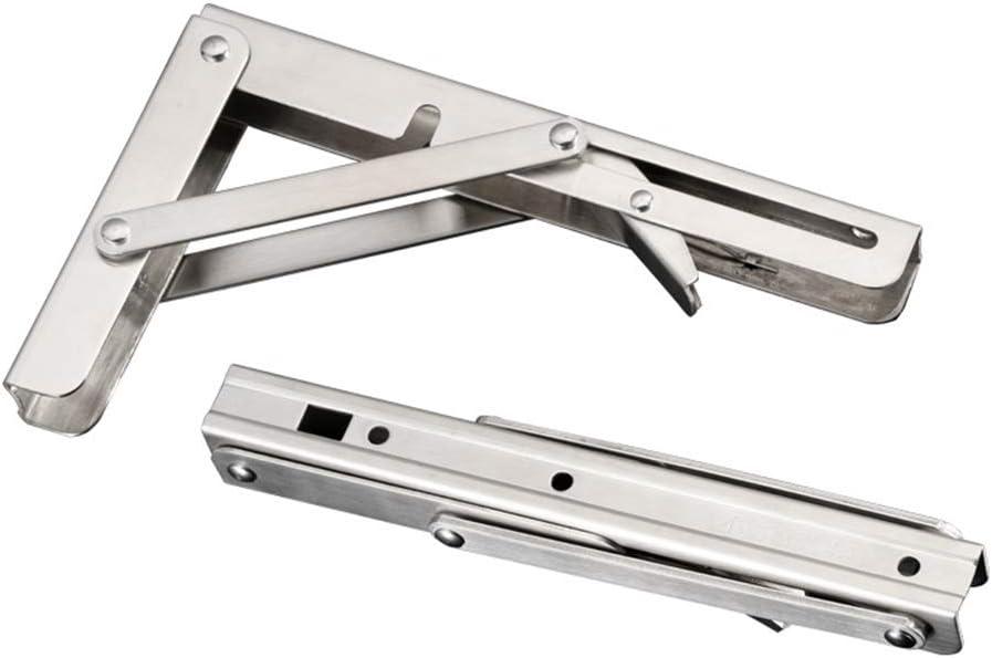 eamqrkt 2pcs en Acier Inoxydable Support de Table Pliante Support /étag/ère Banc 200kg Charge Lourde