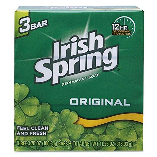 Body Deodorant Original Total (Irish Spring Original Deodorant Bar Soap 3.75 oz Case 18 Bundles X 3 Bar (54 Count))