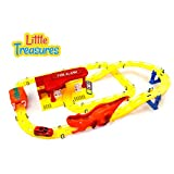 Little Treasures Extreme Fire and Rescue Race Track Toy Set